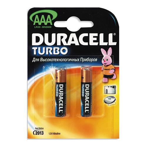 Батарейки Duracell LR03 AAA TURBO (блистер 2шт.) фото